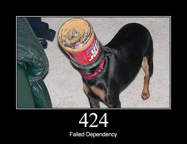 424 failed dependency http status dogs for Http pictures
