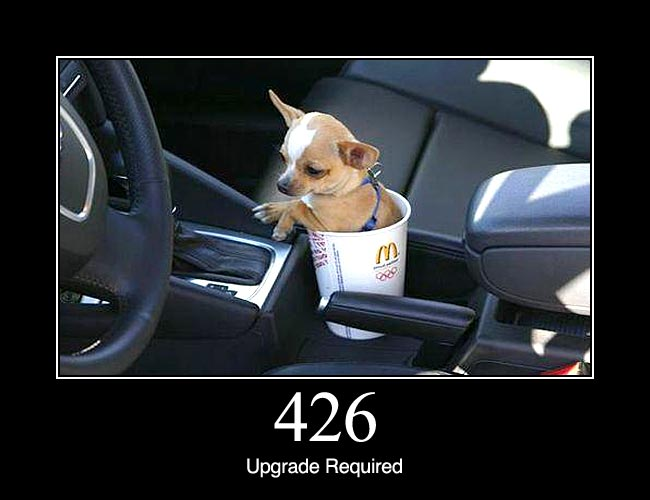 426 Upgrade Required