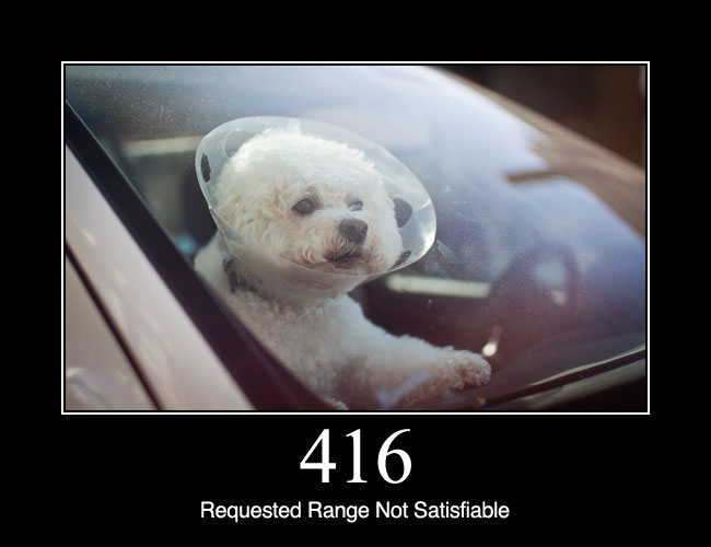 416 Requested Range Not Satisfiable